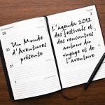 AGENDA DES FESTIVALS ET DES RENCONTRES AUTOUR DU VOYAGE ET DE L'AVENTURE