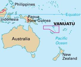 Vanuatu carte géographique