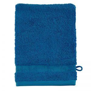 gant-de-toilette-bleu-turquoise-fonce-uni