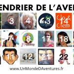 Voici le nouveau CALENDRIER DE L'AVENT-URE 2014 : découvrez 25 voyageurs
