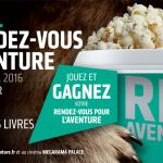 1ère édition du Festival «Les Rendez-vous de l'Aventure» du 31 mars au 2 avril 2016 à Lons-le-Saunier (Jura)