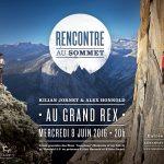 """Rencontre au sommet entre Kilian Jornet et Alex Honnold et Première française de """"Langtang"""" à Paris"""