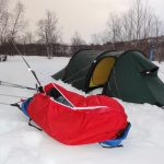 Retour terrain Pulka Ice Blue Snowsled