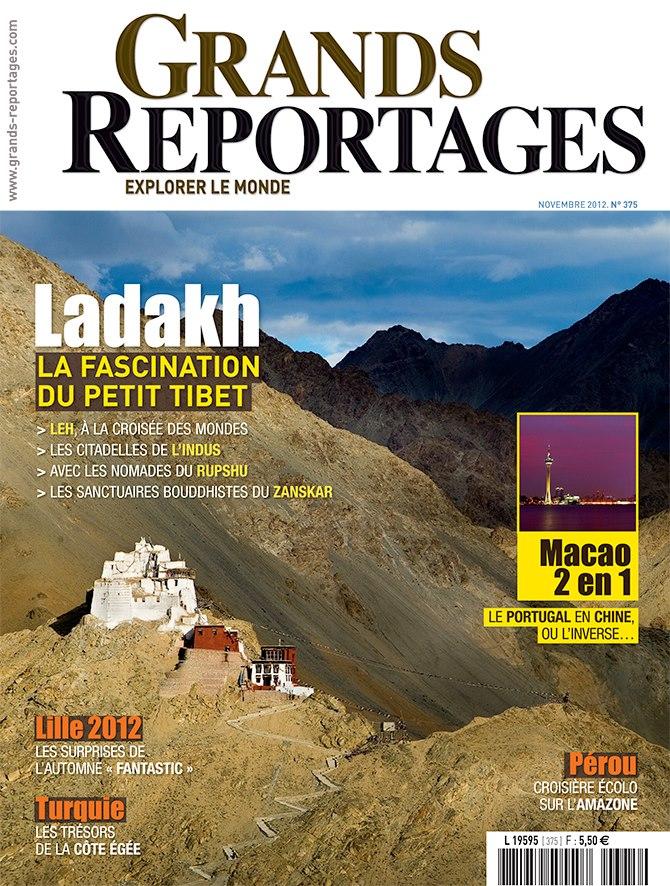 nouveau num ro du magazine grands reportages sur le ladakh et bien plus encore un monde d. Black Bedroom Furniture Sets. Home Design Ideas
