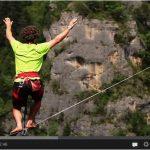 Exclusivité : La vidéo du nouveau record du monde de 150m en Highline, réalisé par le français Théo Sanson