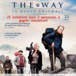 25 invitations pour 2 personnes à gagner pour la sortie du film  film The Way – La route ensemble, le 25 septembre 2013