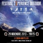 3éme édition du Festival Experience Outdoor, le 29 novembre 2013 à Montpellier
