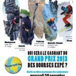 Soirée du Grand prix 2013 des Bourses Expé, le 20 novembre à Grenoble