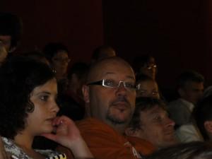 Thierry Robert le président du jury film avec à sa droite Marianne Cramer