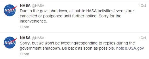 Shutdown Nasa