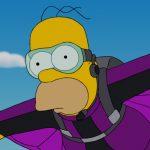 Dans la série The Simpson, je demande Homer Simpson qui fait du Wingsuit