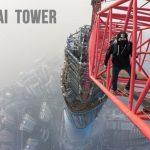 Ascension clandestine, vertigineuse et à main nu de la Shanghai Tower, 3e plus haute tour au monde