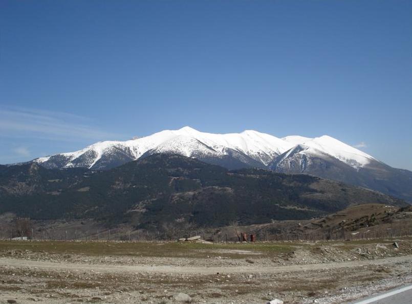 Vue du mont Olympe depuis l'ouest.