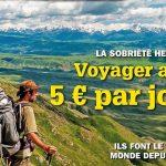 Voyager avec 5 euros par jour, à découvrir dans Carnets d'Aventures
