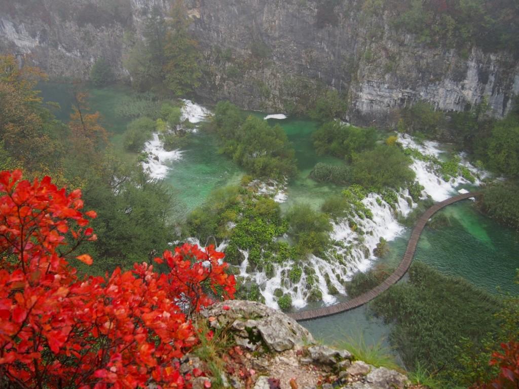 Couleurs d'automne aux lacs de Plitvice