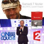 """Sylvain Tesson dans l'émission """"On n'est pas couché"""" de Laurent Ruquier sur France 2, le samedi 7 février à 23h15"""