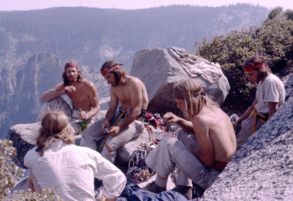 10-Dale-Bard-Jim-Bridwell-Fred-East-Billy-Westbay-Jay-Fisk-top-of-El-Capitans-Pacific-Ocean-Wall-1975-ph-Werner-Braun