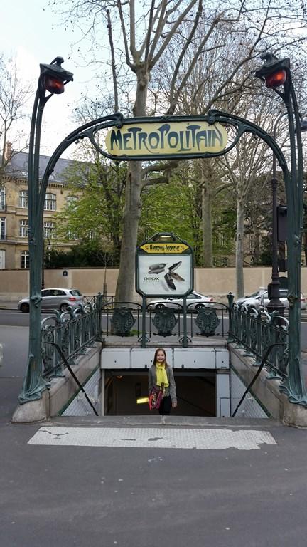 Station de métro réalisée par Hector Guimard
