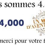 4.000 abonnés à notre page Facebook : 4.000 fans d'aventure et de voyage hors des sentiers battus