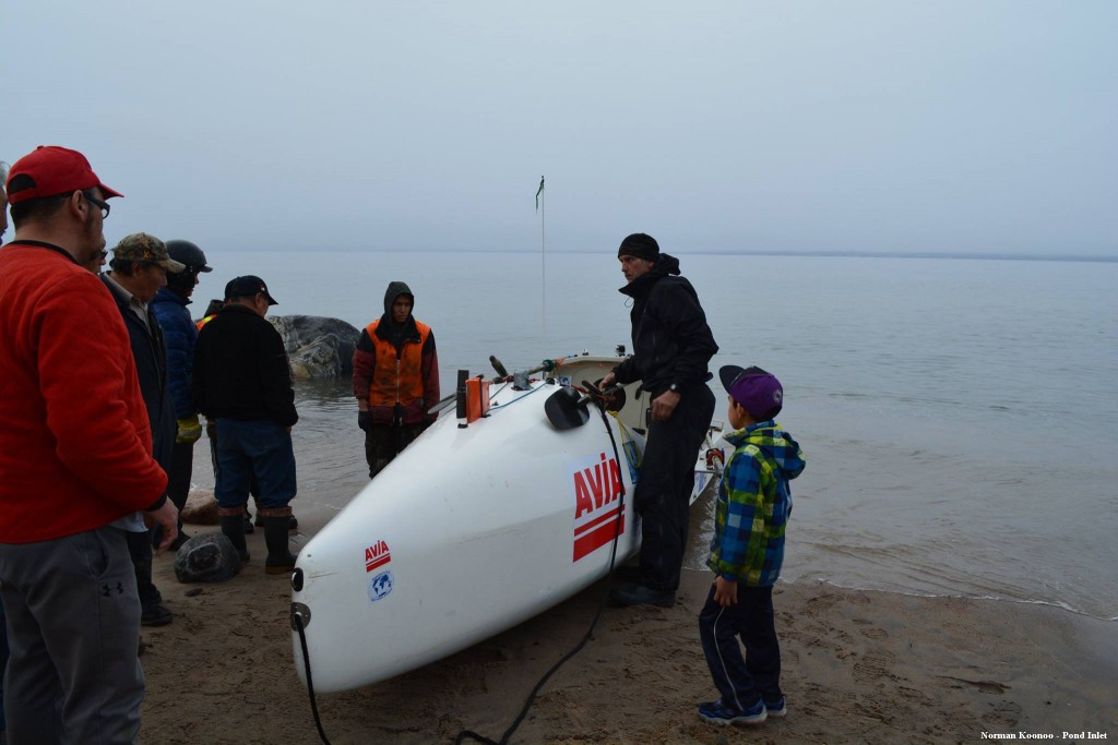 Charles Hedrich_arrivée à Pond Inlet_1er passage du Nord-Ouest en solo 1
