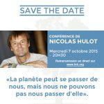 Conférence de Nicolas Hulot disponible en intégralité : #Osons !