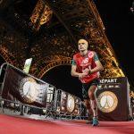 Résultats en photos de la deuxième édition  de la Verticale de la Tour-Eiffel, Course ascensionnelle d'exception à Paris, le 17 mars 2016