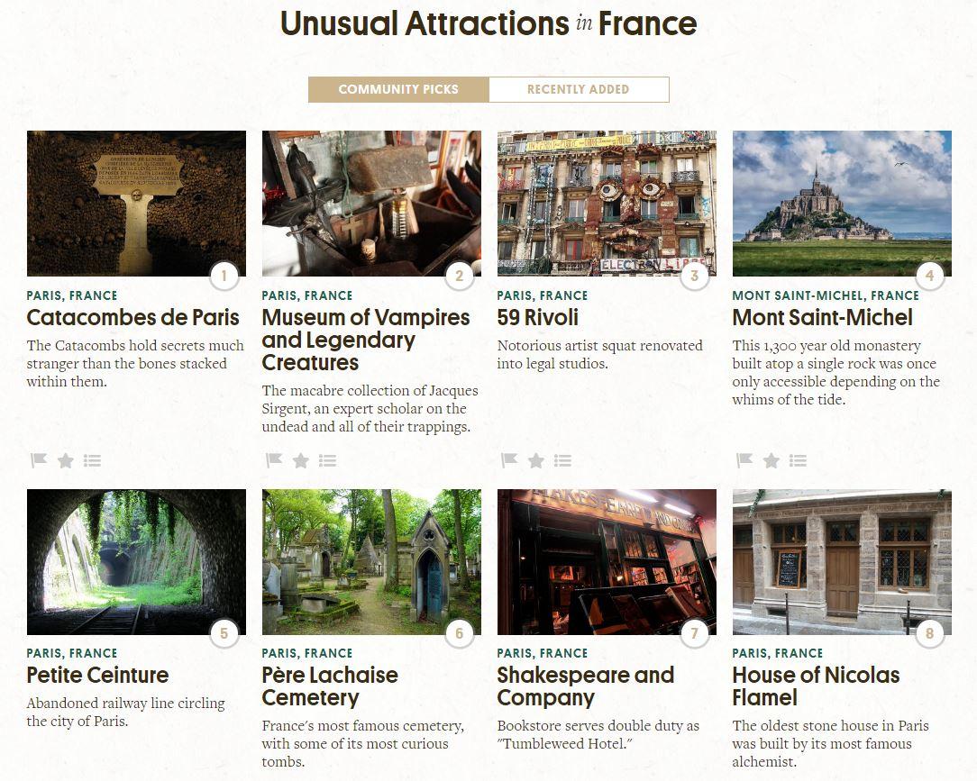 Une Carte Interactive Rpertorie Les 11 000 Lieux Plus Tranges Et