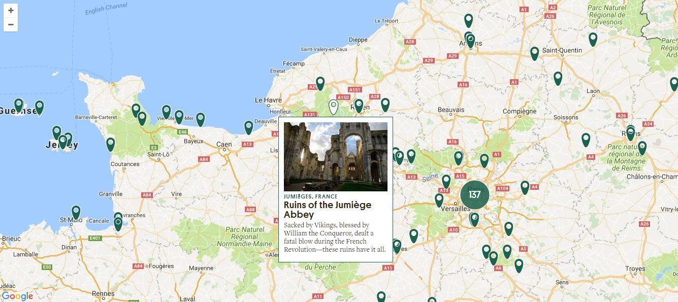 carte lieux abandonnés france Une carte interactive répertorie les 11 000 lieux plus étranges et