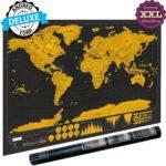 ★ Une carte du monde à gratter édition XXL Deluxe 2018 avec un e-book offert ★